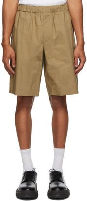 Helmut Lang Tan Pull-On Shorts