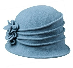 Dorfman Pacific Scala Knit Wool Cloche with Flower