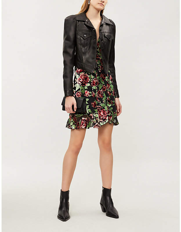 The Kooples Fitted leather jacket