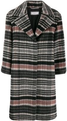Peserico Geometric Pattern Single-Breated Coat