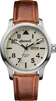 Ingersoll Men's Automatic Stainless Steel and Leather Casual Watch, Color:Brown (Model: I01301)