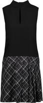 Rachel Zoe Naya stretch-jersey and plaid cotton mini dress