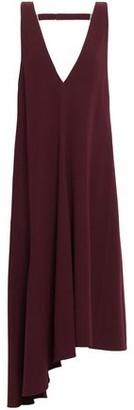 Tibi Asymmetric Open-back Stretch-crepe Midi Dress
