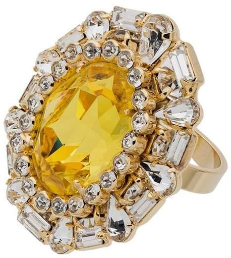 Dannijo Khan crystal cocktail ring