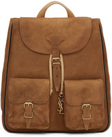 Saint Laurent Tan Suede Medium Festival Backpack