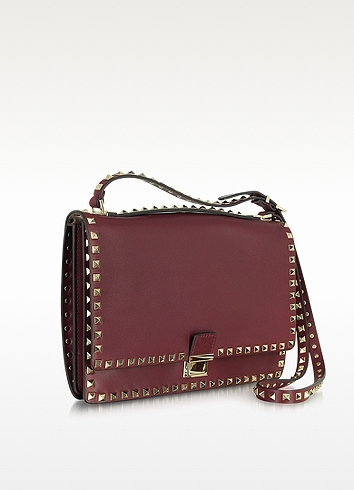 Valentino Garavani Rockstud Nappa Leather Shoulder Bag