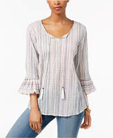 Style&Co. Style & Co Petite Striped Split-Neck Tunic, Created for Macy's