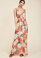 ModCloth Muster the Length Maxi Dress in Coral in XS