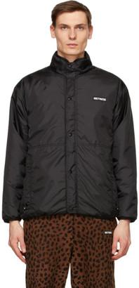 Wacko Maria Reversible Brown and Black Leopard Boa Jacket
