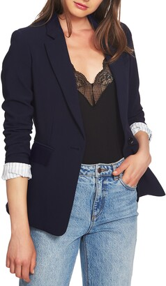 1 STATE One-Button Stretch Crepe Blazer