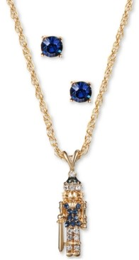 Charter Club Gold-Tone Crystal Nutcracker Pendant Necklace & Stud Earrings Set, Created for Macy's