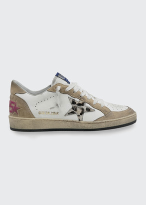 Golden Goose Ballstar Mixed Leather Low-Top Skater Sneakers