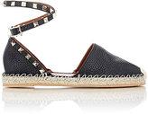 Valentino Women's Rockstud Ankle-Strap Espadrilles-BROWN