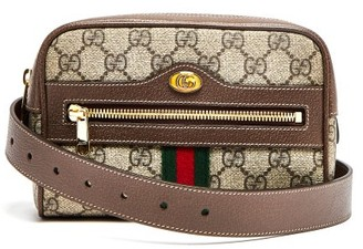 Gucci Ophidia Gg Supreme Belt Bag - Womens - Brown Multi