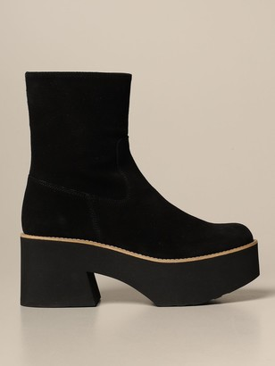 Paloma Barceló Flat Booties Ankle Boot In Suede