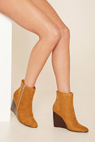 Forever 21 FOREVER 21+ Faux Suede Wedge Ankle Boot
