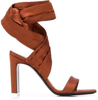 ATTICO Tie-Fastening Ankle Sandals