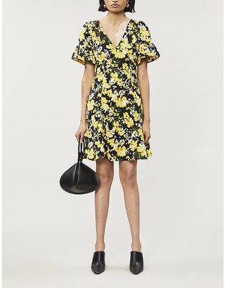 MICHAEL Michael Kors Floral-print sequin-embellished woven mini dress