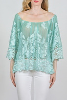Sky Intricate Lace Top