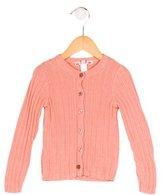 Bonpoint Girls' Long Sleeve Rib Knit Cardigan