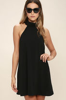 LuLu*s Waiting For Tonight Black Swing Dress