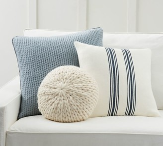 Pottery Barn Modern Stripe Blue Pillow Cover Set