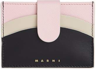 Marni Leather Cinder Card Holder