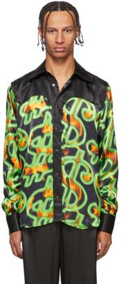 SSS World Corp Black Fire Western Shirt