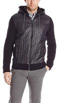 Calvin Klein Jeans Men's 5 GG Nylon Piecing Hoodie Sweater