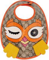 Gucci Baby owl motif bib