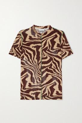 Ganni Zebra-print Stretch-jersey T-shirt - Zebra print
