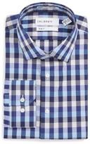 Men's Calibrate Trim Fit Stretch Non-Iron Check Dress Shirt