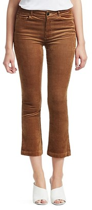 Paige Colette High-Rise Crop Corduroy Trousers