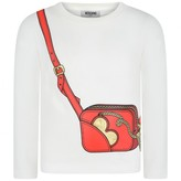 Moschino MoschinoGirls Ivory Bag Print Top