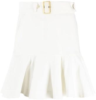 Pinko Ruffle-Hem Mini Skirt