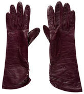 Saint Laurent Plum Leather Gloves