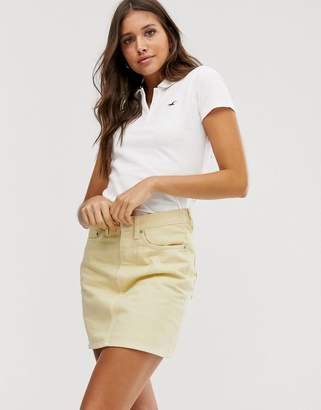 Hollister white polo shirt