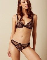 Agent Provocateur Carli Thong Black And Rose Gold