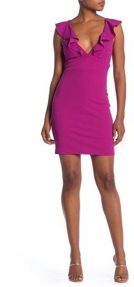 Jump Ruffle Strap V-Neck Dress