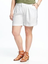 "Old Navy Relaxed Plus-Size Linen-Blend Shorts (7"")"