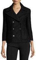The Row Nori Double-Breasted 3/4-Sleeve Jacket, Black