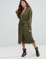 Free People Military Duster Coat