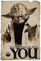 Star Wars Poster Yoda May the Force be with You (61cm x 91,5cm) + a Bora Bora poster!