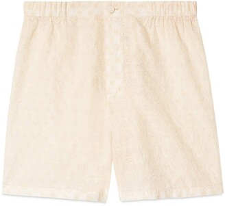 Gucci GG embroidered cotton shorts