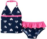 Osh Kosh Baby Girl Heart Halterkini & Ruffled Swim Bottoms Set
