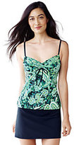 Lands' End Women's Petite Beach Living Adjustable Top-Cerise Pink Etched Paisley