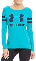Under Armour Stripe Sport-Style Long Sleeve Top