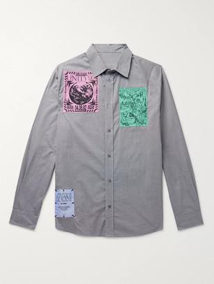McQ Appliqued Checked Cotton Oxford Shirt