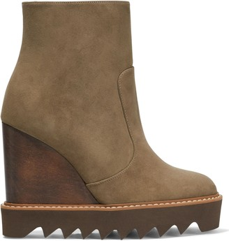 Stella McCartney Faux Suede Ankle Boots