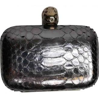 Alexander McQueen Skull Silver Python Clutch bags